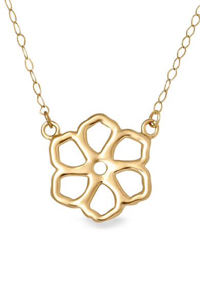 Belk & Co. 14k Yellow Gold Flower Necklace