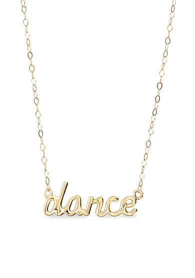 Belk & Co. 14k Yellow Gold Dance Necklace