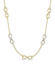 Belk & Co. 14k Two-Tone Gold Infinity Necklace