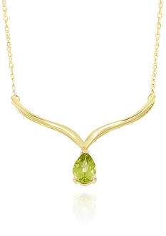 Belk & Co. Peridot Necklace in 10k Yellow Gold