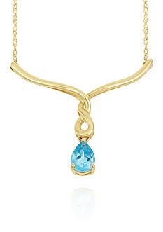 Belk & Co. Blue Topaz Necklace in 10k Yellow Gold