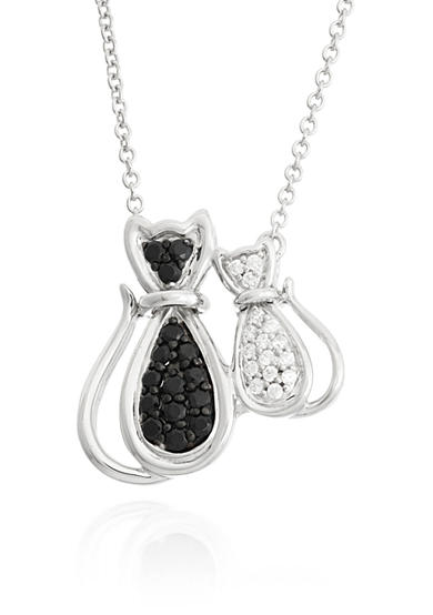 Belk & Co. Black Onyx and Diamond Necklace in Sterling Silver