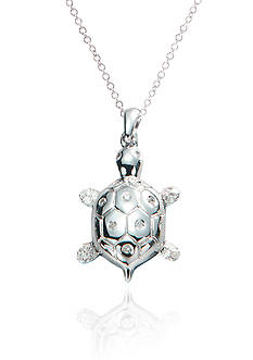 Belk & Co. 1/10 ct. t.w Diamond Turtle Pendant in Sterling Silver