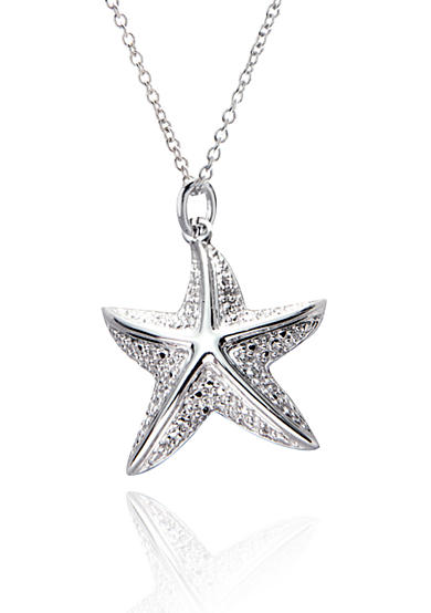 Belk & Co. 1/10 ct. t.w Diamond Starfish Pendant in Sterling Silver