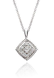 Belk & Co. Sterling Silver Diamond Pendant