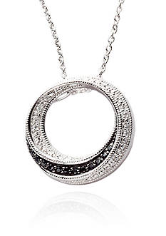 Belk & Co. Sterling Silver Black and White Diamond Pendant