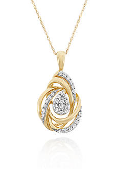 Belk & Co. Diamond Pendant in 10k Yellow Gold