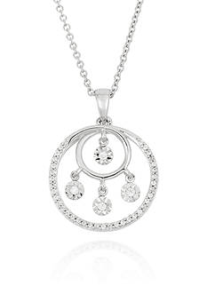 Belk & Co. Diamond Circle Pendant in Sterling Silver