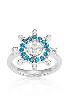 Belk & Co. London Blue Topaz and Diamond Accent Ring in Sterling Silver
