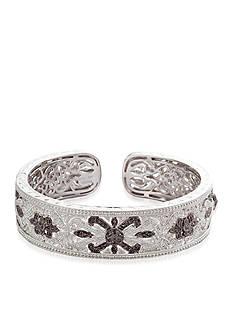 Belk & Co. Black & White Diamond Cuff in Sterling Silver