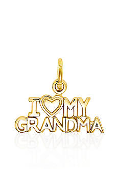 Belk & Co. 14k Yellow Gold I Love My Grandma Charm