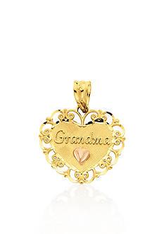 Belk & Co. 14k Two Tone Gold Grandma Heart Charm