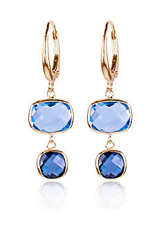 Belk & Co. Sky and London Blue Topaz Earrings in 14k Yellow Gold