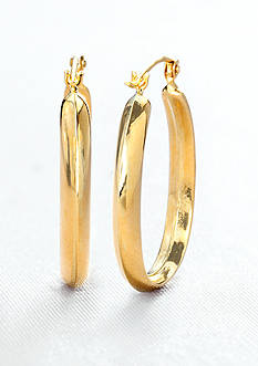 Belk & Co. 14k Yellow Gold Oval Hoop Earring