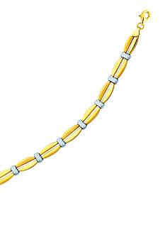 Belk & Co. 10k Two Tone Stampato Bracelet