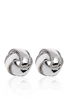 Belk & Co. Sterling Silver Love Knot Studs