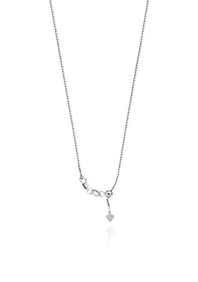 Belk & Co. Adjustable Box Chain in Sterling Silver
