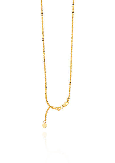 Belk & Co. 14k Yellow Gold Adjustable Sparkle Chain