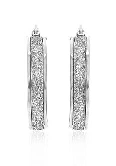 Belk & Co. 14k White Gold Hoop Earrings