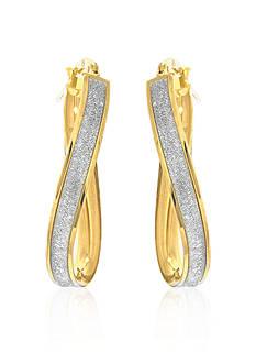 Belk & Co. 14k Two Tone Gold Hoop Earrings