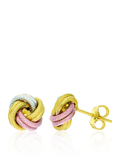 Belk & Co. 14k Tri Color Gold Love Knot Earrings