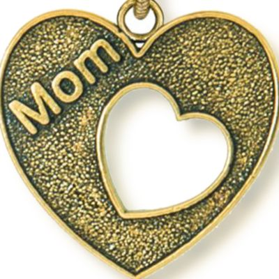 Personalized Jewelry: Faith & Family: Yellow Gold-Tone Angelica Mom Heart Expandable Bangle