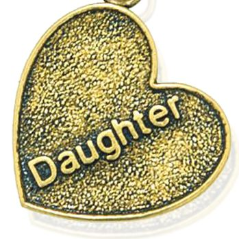 Personalized Jewelry: Faith & Family: Yellow Gold-Tone Angelica Daughter Expandable Bangle