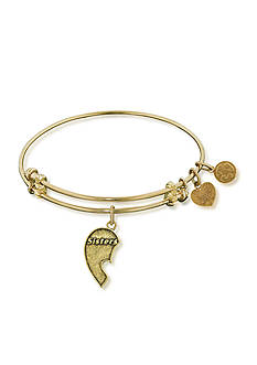 Angelica Sisters Heart Expandable Bangle