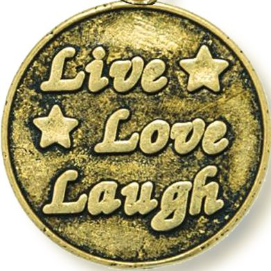 Personalized Jewelry: Inspirational: Yellow Gold-Tone Angelica Live Love Laugh Expandable Bangle