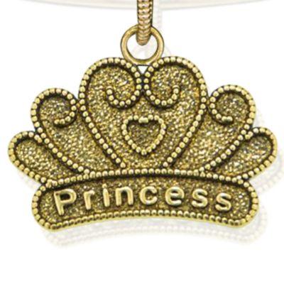 Personalized Jewelry: Symbols: Yellow Gold- Tone Angelica Princess Expandable Bangle