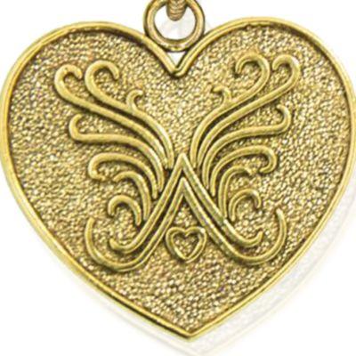 Personalized Jewelry: Symbols: Yellow Gold-Tone Angelica Logo Expandable Bangle