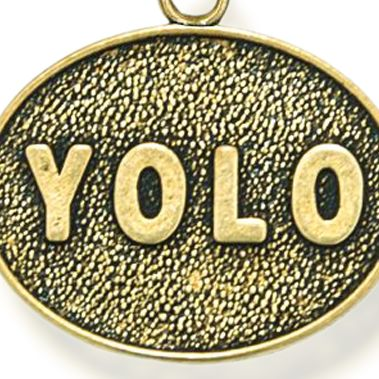 Personalized Jewelry: Inspirational: Yellow Gold-Tone Angelica YOLO Expandable Bangle