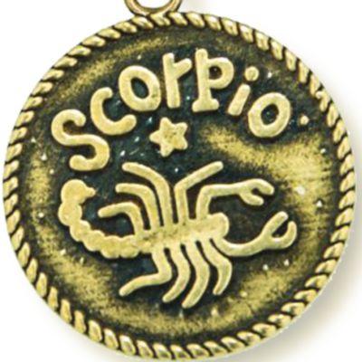 Personalized Jewelry: Zodiac: Yellow Gold-Tone Angelica Scorpio Expandable Bangle