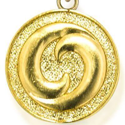 Personalized Jewelry: Symbols: Yellow Gold-Tone Angelica Yin Yang Expandable Bangle