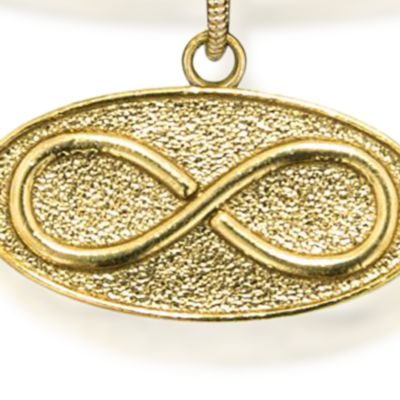 Personalized Jewelry: Symbols: Yellow Gold-Tone Angelica Infinity Expandable Bangle