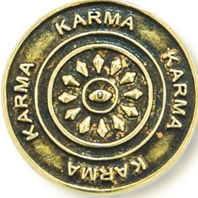 Personalized Jewelry: Symbols: Yellow Gold-Tone Angelica Karma Expandable Bangle