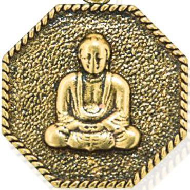 Personalized Jewelry: Symbols: Yellow Gold-Tone Angelica Buddha Expandable Bangle