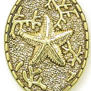Personalized Jewelry: Symbols: Yellow Gold-Tone Angelica Starfish Expandable Bangle