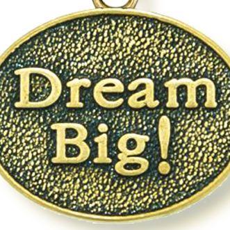 Personalized Jewelry: Symbols: Yellow Gold-Tone Angelica Dream Big Expandable Bangle