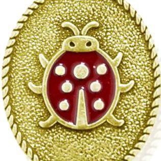Animal Instincts: Bracelets: Yellow Gold-Tone Angelica Lady Bug Expandable Bangle