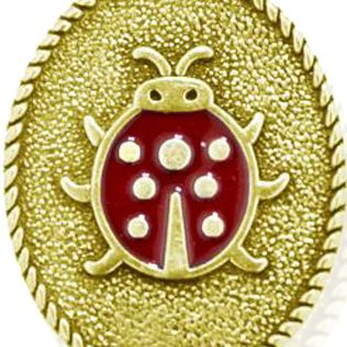 Personalized Jewelry: Symbols: Yellow Gold-Tone Angelica Lady Bug Expandable Bangle