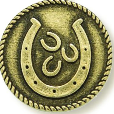 Personalized Jewelry: Symbols: Yellow Gold-Tone Angelica Lucky Horseshoe Expandable Bangle