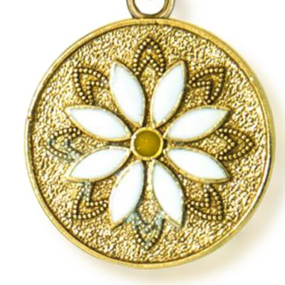 Personalized Jewelry: Bangles: Yellow Gold-Tone Angelica Daisy Flower Expandable Bangle