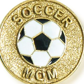 Personalized Jewelry: Sports & Hobbies: Yellow Gold-Tone Angelica Soccer Mom Expandable Bangle