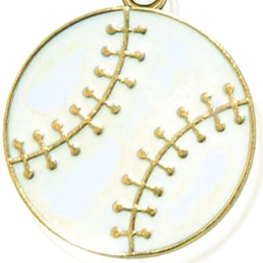 Personalized Jewelry: Sports & Hobbies: Yellow Gold-Tone Angelica Baseball Expandable Bangle