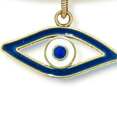 Personalized Jewelry: Symbols: Yellow Gold-Tone Angelica Evil Eye Expandable Bangle