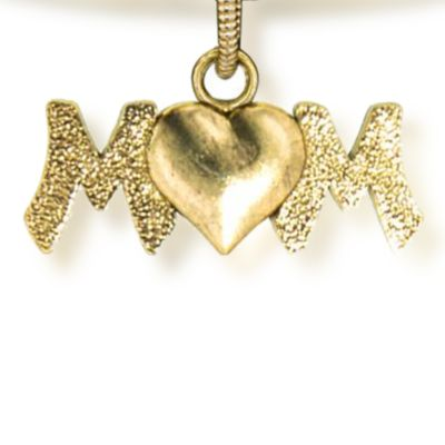 Charm Bracelets: Yellow Gold-Tone Angelica Mom Expandable Bangle