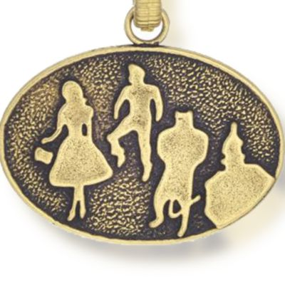Personalized Jewelry: Symbols: Yellow Gold-Tone Angelica Wizard of Oz™ Silhouette Expandable Bangle