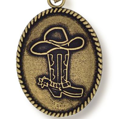 Personalized Jewelry: Sports & Hobbies: Yellow Gold-Tone Angelica Cowboy Hat and Boots Expandable Bangle