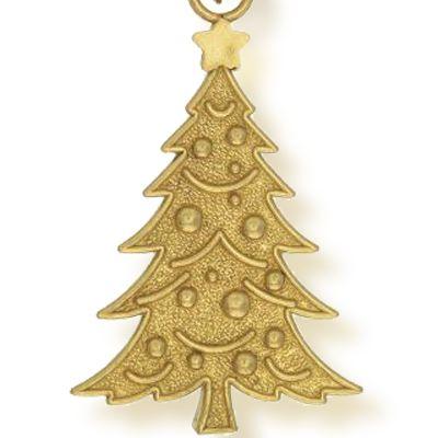 Personalized Celebration Bangles: Yellow Gold-Tone Angelica Christmas Tree Expandable Bangle